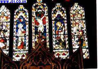 stained glass dinnington church