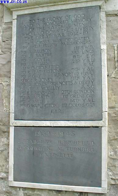 harthill war memorial