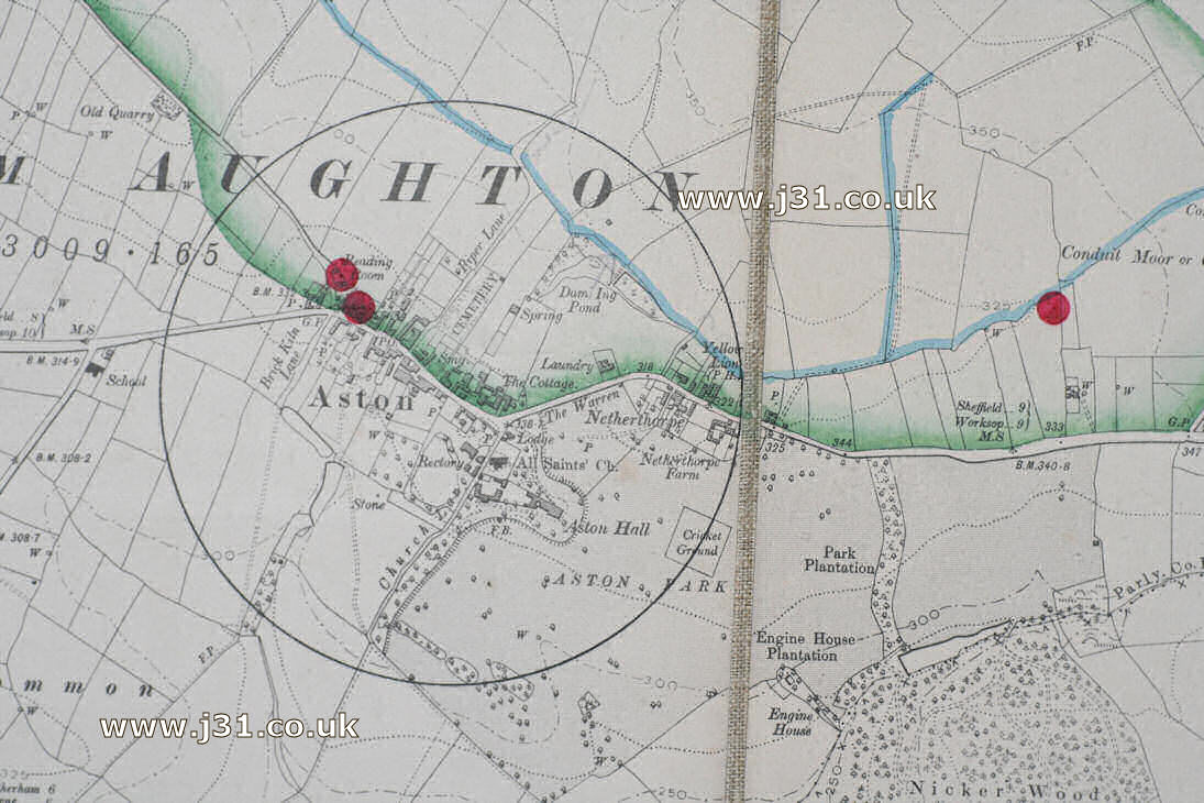Aston map in 1905.