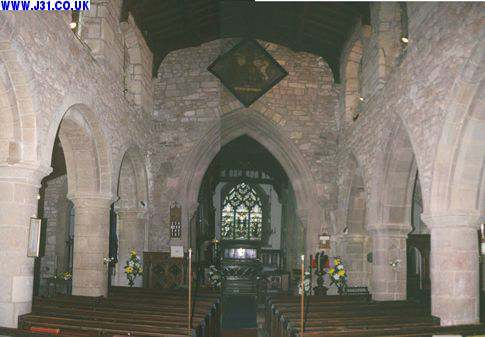 Composite picture of the inside of All Hallows Church, Harthill
