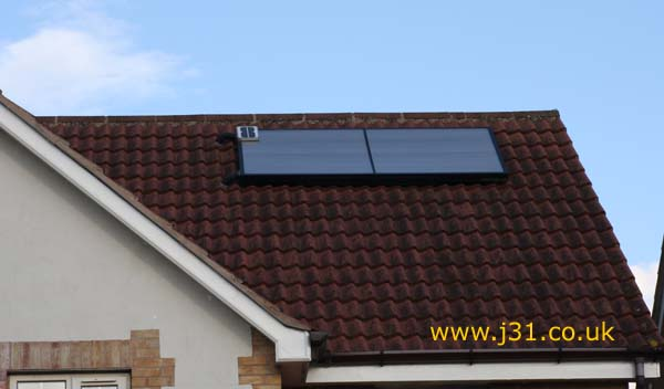 solar twin hot water flat panel