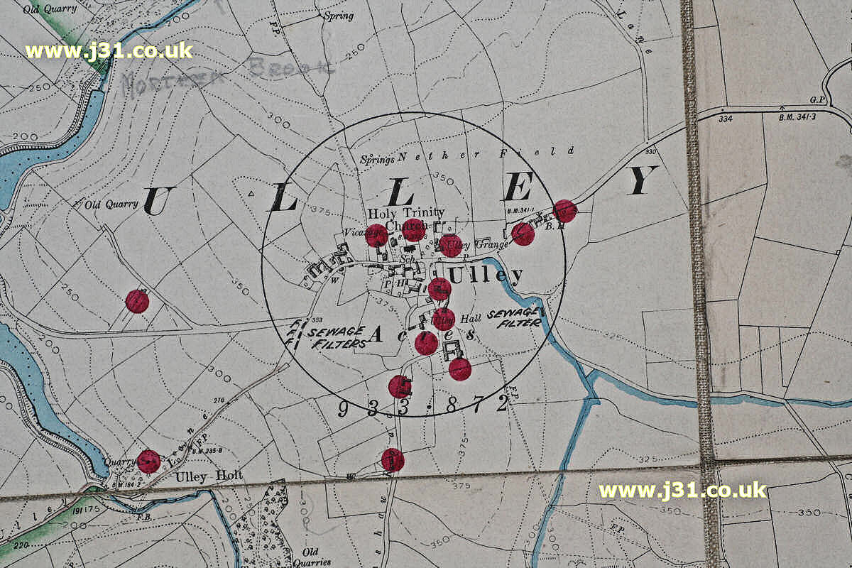 Ulley map in 1905.