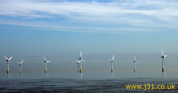 offshore wind turbines, yarmouth